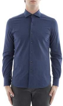 Orian Men's Blue Cotton Shirt.