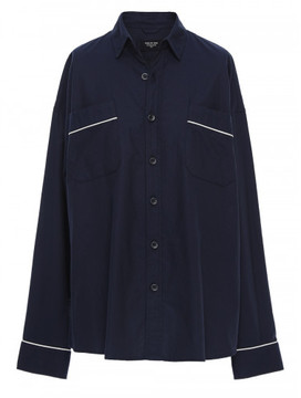 Fear Of God Navy PIPED OVERSIZED SHIRT