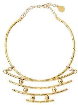 Devon Leigh Hammered Bar Pendant Necklace