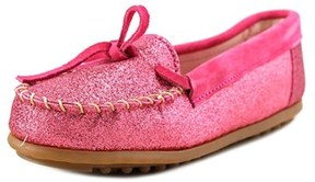 Minnetonka Glitter Moccasin Youth Synthetic Pink Moccasins.