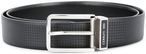 Cerruti diamond embossed logo belt