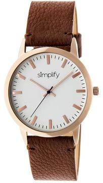 Simplify The 2800 Collection SIM2803 Unisex Watch with Leather Strap