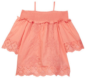 Lucky Brand Lacey Crochet Eyelet Off-Shoulder Top (Big Girls)
