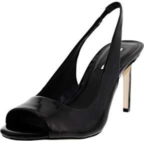 BCBGeneration Bcbg Women's Ceecee Black Ankle-High Pleather Pump - 9.5M