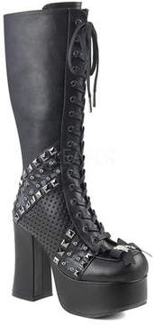 Demonia Women's Charade 150 Lace-Up Knee-High Platform Boot