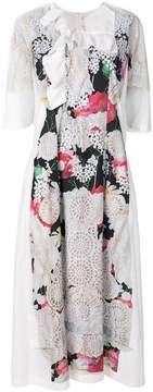 Comme des Garcons laser cut floral dress