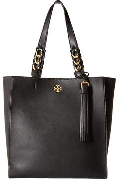 Tory Burch Brooke Tote Tote Handbags - BLACK - STYLE