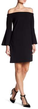 CeCe Hadley Off-the-Shoulder Bell Sleeve Dress