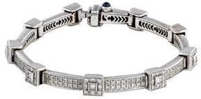 Charriol 18K Diamond Square Flamme Blanche Bracelet
