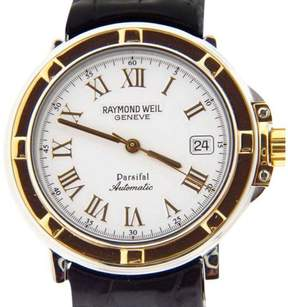 Raymond Weil 2830STC-00308 Parsifal White Dial Leather Automatic Mens Watch