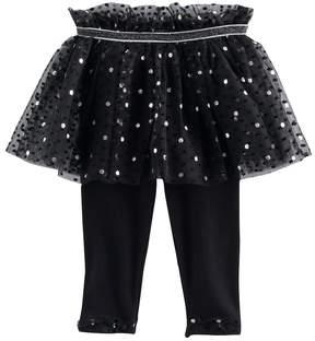 Baby Starters Baby Girl Ruffle Polka-Dot Tutu Leggings