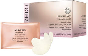 Shiseido Benefiance WrinkleResist24 Pure Retinol Express Smoothing Eye Masks, 12ct
