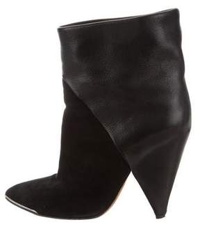 IRO Suede & Leather Ankle Boots