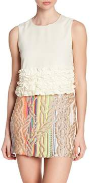 Cynthia Rowley Sleeveless Ruffle Blouse