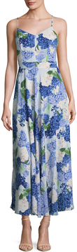CeCe Women's Hydrangea Bouquet Print Maxi Dress