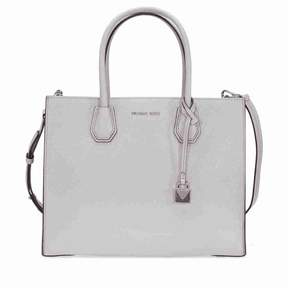 Michael Kors Mercer Large Bonded Leather Tote - Pearl Grey - AS SHOWN - STYLE