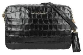 Michael Kors Ginny Embossed-Leather - Crossbody - Black - 32F7GGNM2E-001 - ONE COLOR - STYLE