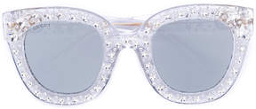 Gucci cat eye sunglasses with stars