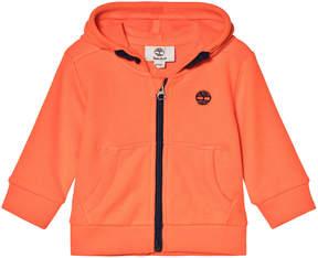 Timberland Kids Orange Logo Zip Hoodie