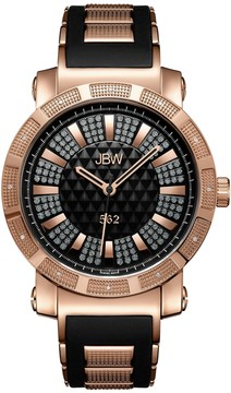 JBW Men's 562 0.12 ctw Diamond 18k Gold-plated Watch