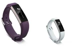 Fitbit Alta HR and Alta Replacement Bands 2 PCS BUNDLE SET, by Zodaca Soft TPU Rubber Adjustable Wristbands with Secure Metal Buckle Watch Band Strap For Alta HR / Alta - Purple + White