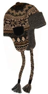 Muk Luks Men's Faux-Fur Brown Trapper Hat