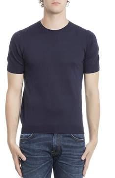 Paolo Pecora Men's Blue Silk T-shirt.