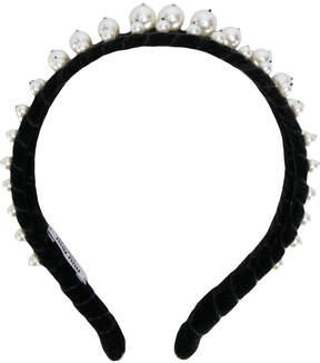 Miu Miu headband with pearl embellishment