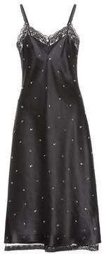 Alexander Wang Embellished satin slip dress