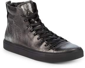 John Varvatos Men's Reed Leather Mid-Top Sneakers