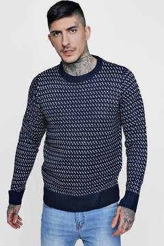 boohoo Chunky Patterned Knit