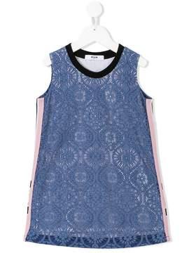 MSGM lace overlay shift dress