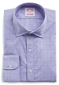 Hamilton Purple and White Check Poplin Shirt
