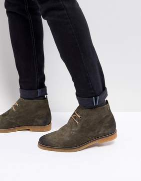 Base London Perry Suede Desert Boots in Olive