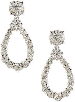FANTASIA Open Pear-Shaped Crystal Drop Earrings