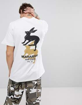 MHI T-Shirt In White With Back Print