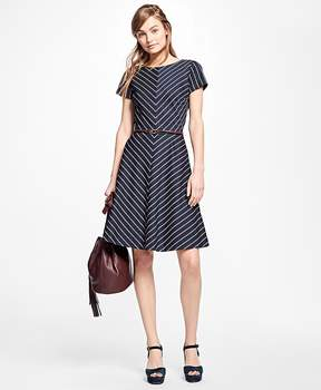 Brooks Brothers Short-Sleeve Striped Dress