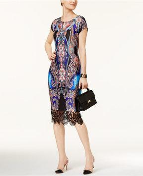 ECI Lace-Trim Sheath Dress