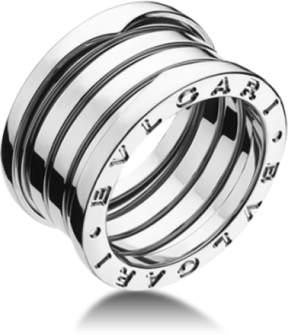 Bulgari Bvlgari B. Zero 1 18K White Gold 4 Band Ring AN191026 Size: 4.5