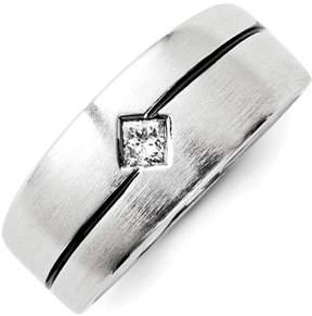 Ice 14k White Gold Diamond Enameled Men's Ring