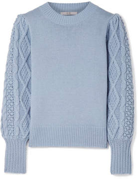Co Wool And Cashmere-blend Sweater - Light blue