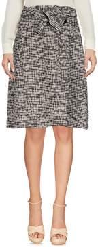 Biancoghiaccio Knee length skirts