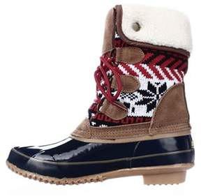 Khombu Womens Jenna Closed Toe Mid-calf Cold Weather Boots.
