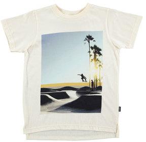 Molo Read Graphic Skater Tee, White, Size 4-12