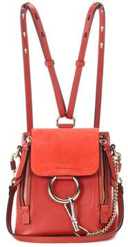Chloé Faye Mini leather and suede backpack