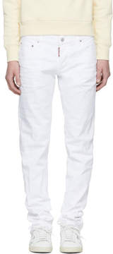 DSQUARED2 White Slim Jeans
