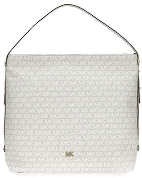 Michael Kors Griffin Large Logo Jacquard Shoulder Bag - Cream - ONE COLOR - STYLE