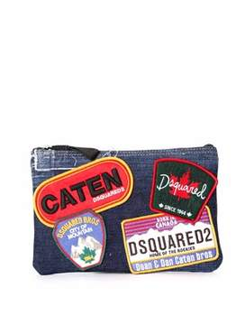 DSQUARED2 Women's Blue Cotton Clutch.