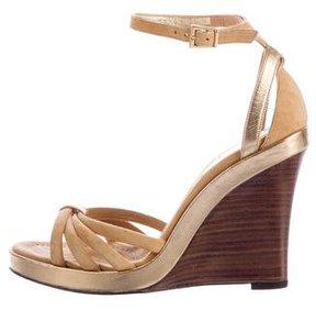 Barbara Bui Suede Wedge Sandals