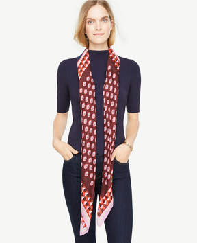 Ann Taylor Abstract Leaf Square Scarf